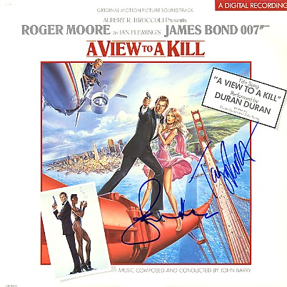 View to a Kill (1985) James Bond LP Dual signed
